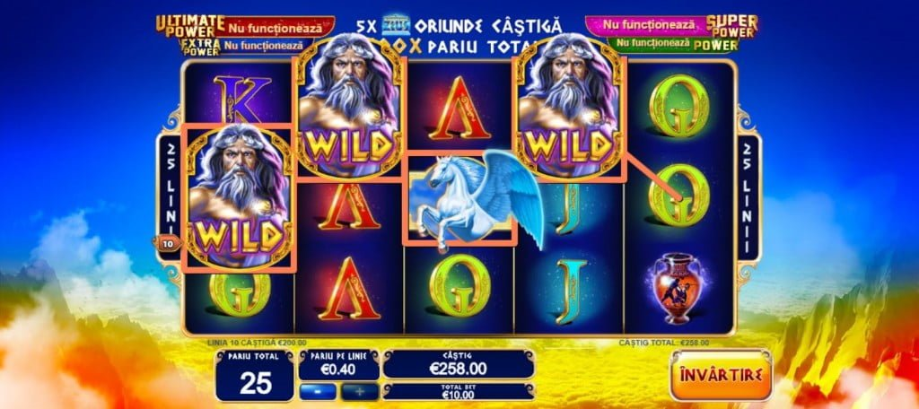 King of Olympus bonus wild jackpot